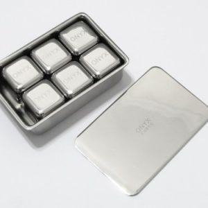 Onyx s/s ice cube set - 6 pack