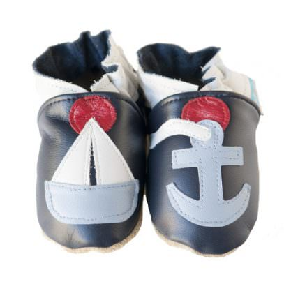 All-leather baby shoes. Handcrafted in America
