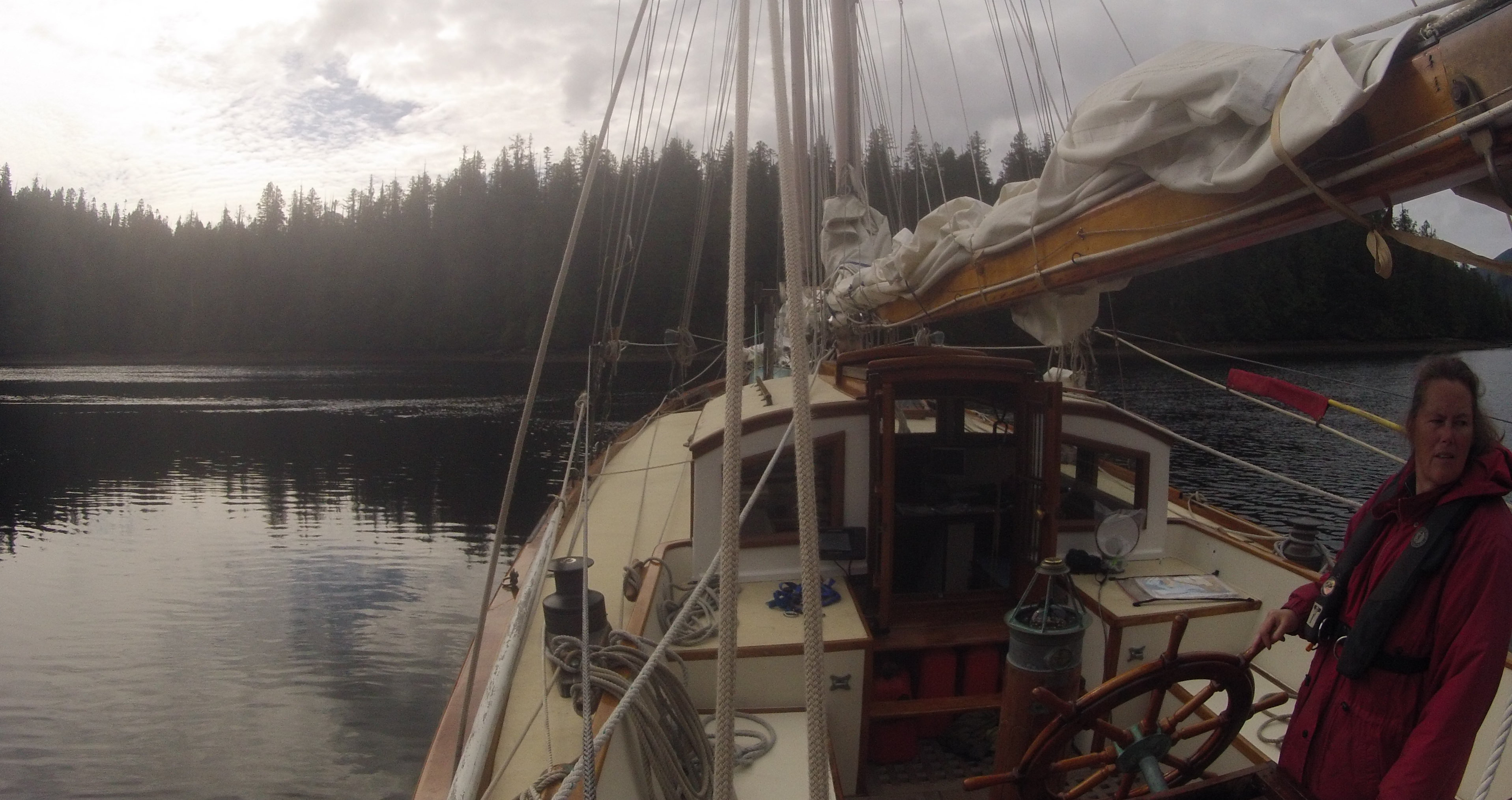 Anchoring backing down