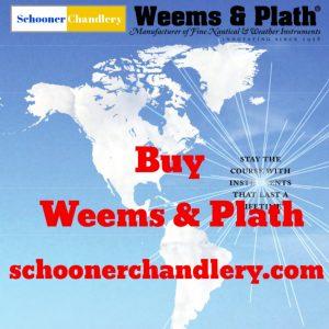 Weems & Plath Nautilus Waterproof Qtz Clock w/clinometer