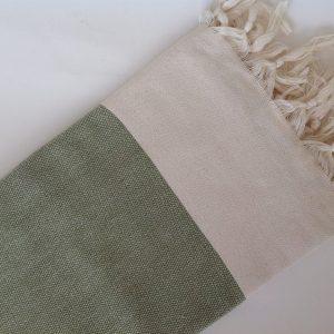 Elegant Organic Turkish Towel, Peshtemal, bath, spa, hammam, Natural Sof cotton, Gift for father, father's day, Handwoven, Green
