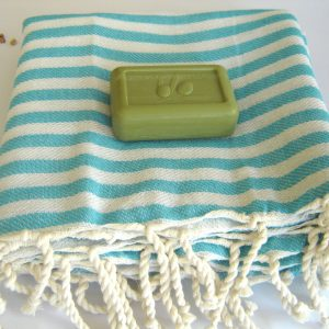 Best Quality Turkish Towel, Peshtemal, Beach towel, bath towel, hammam towel, yoga, Spa, Sarong, Pareo, Aqua Striped