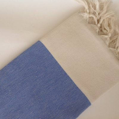 Elegant Organic Turkish Towel, Peshtemal, bath, spa, hammam, Natural Soft cotton, Blue, Gift for mother, Special Production, Handwoven
