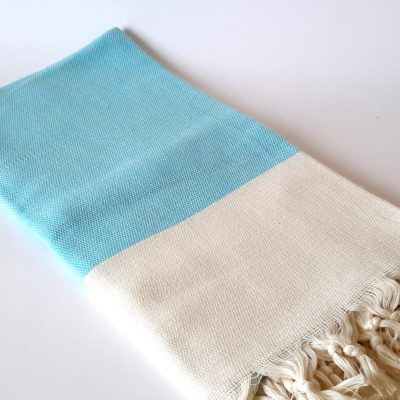Elegant Organic Turkish Towel, Peshtemal, bath, spa, hammam, Natural Soft cotton, Aqua blue, Gift for mother, Special Production, Handwoven