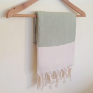 Elegant Organic Turkish Towel, Peshtemal, bath, spa, Natural soft cotton,  Gift for mother, Special Production, Handwoven , Light green