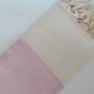 Elegant Organic Turkish Towel, Peshtemal, bath, spa, hammam, Natural Sof cotton, Gift for woman, summer, Handwoven, Pink