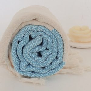 Elegant Organic Turkish Towel, Peshtemal, bath, beach, spa, hammam, Natural Sof cotton, unisex, Gift, summer, Handwoven, Turquoise
