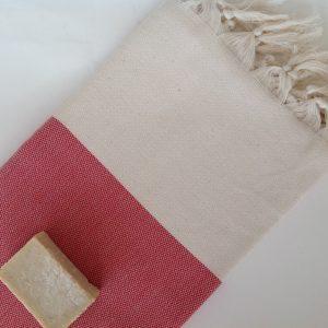 Elegant Organic Turkish Towel, Peshtemal, bath, spa, hammam, Natural Sof cotton, Gift for mother, mother's day, Handwoven, Red