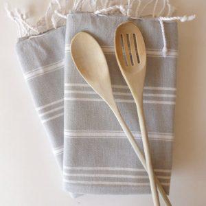 Fast shipment, Set of  5 Turkish hand Towel, Peshkir, kitchen towel, soft baby towel, natural cotton, grey, green, mint, yellow, dark lilac