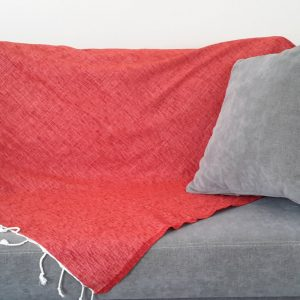 Handwoven Ecofriendly Seat Cover, Bedspread, Throw, Blanket, Natural Sofa Cover, Seat Covers, Home decor, Natural Cotton and Velvet, Red