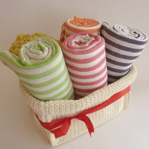 Fast Shipment, set of 4 Turkish Towels, Cotton, Bath & Body, Peshtemal, summer, light brown, lilac, red, baby blue, mother's day