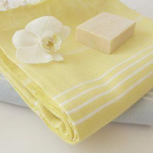 Classic Turkish Towel, Peshtemal, Natural Soft Cotton Bath, Spa,  Beach Towel, For Mother, Yellow