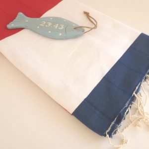 Sailor Turkish Towel, Mariner Peshtemal, Natural, Bath and Beauty, Bath and Body, Soft Cotton, Beach Towel, White Red Blue, mother's day