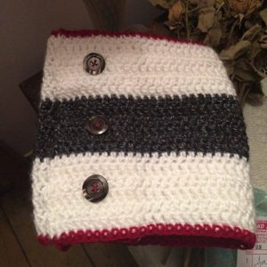 Nautical inspired infinity scarf with buttons