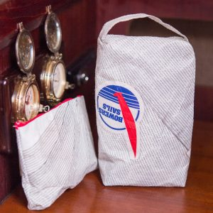 Recycled Racing Sailcloth Makeup/Shaving Bag Pair
