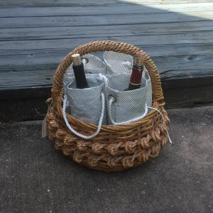 Recycled Sailcloth Wine Bag