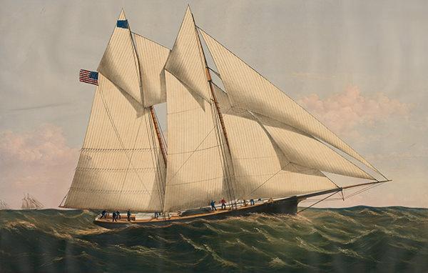 Gordon Bennett's own yacht Henrietta, winner of the first ever transat