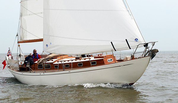 Lady of Hamford shortly after her re-launch. Photo by Emily Harris