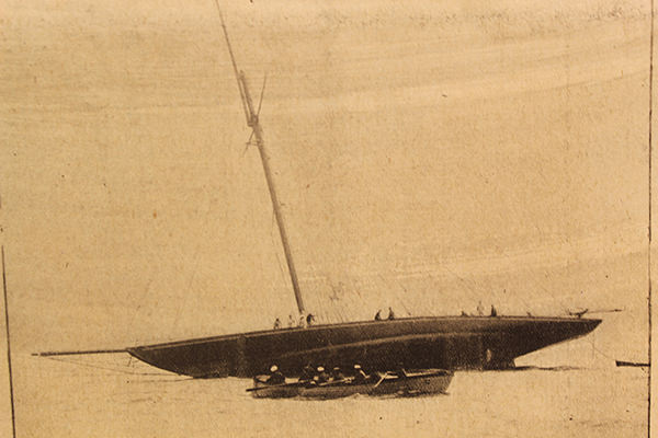 Britannia aground