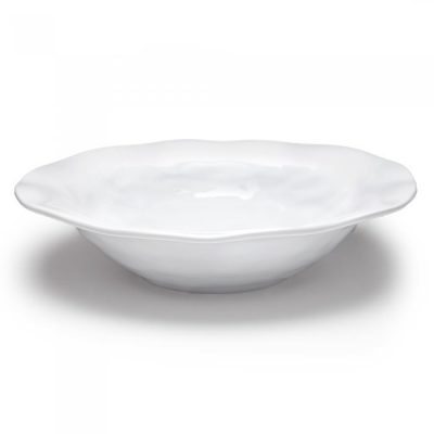 Q Squared NYC Ruffle Round Shallow Serving Bowl