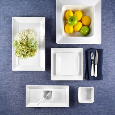 Q Squared NYC Diamond Square 12pc Melamine Dinnerware Set