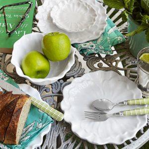 Q Squared NYC Peony 12pc Melamine Dinnerware Set
