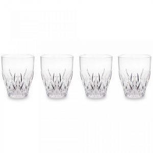 Q Squared NYC Aurora Crystal Clear S/4 Wine Glasses