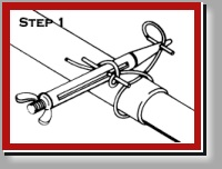 Clamptite tool Step 1 single wrap instructions