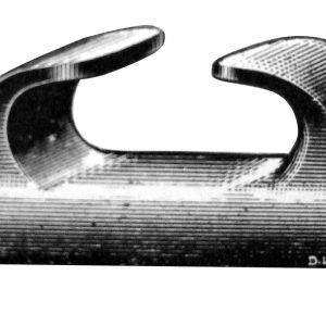Deck Fairlead - Angled  with Lip