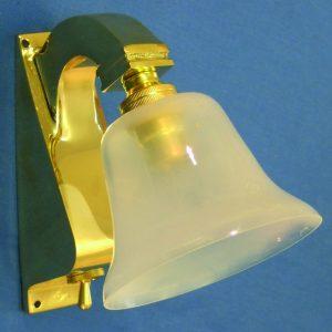 Brass Bracket Light - with Switch