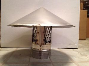 4 inch stove pipe Stainless Steel Chimney Cap -- Made in MAINE, USA!!****