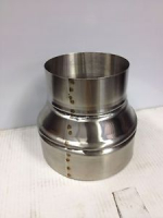 "5"" to 7"" stove pipe Stainless Steel Single Wall Adapter --  Made in MAINE, USA!!****"