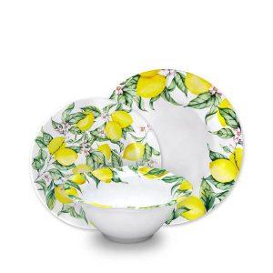 Q Squared NYC Limonata 12pc Melamine Dinnerware Set