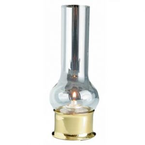 Weems & Plath Brass Companion Lamp w/chimney & fuel cell