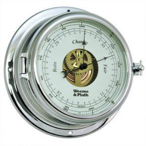 Weems & Plath Endurance II 135 CHROME Open Dial Barometer