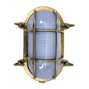 Weems & Plath Oval Brass Bulkhead Light (F&S)