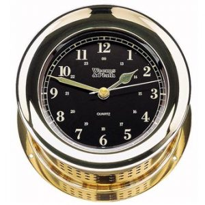 Weems & Plath Atlantis Premiere Quartz Clock (Black)