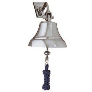 "Weems & Plath 5"" Nickel Bell w/Navy Blue Lanyard"
