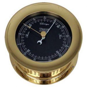 Weems & Plath Atlantis Nautical Flag Black Dial Barometer