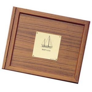 Weems & Plath Teak Log Cover, Sailboat Plate