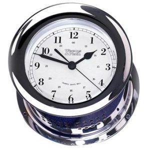 Weems & Plath Chrome Plated Atlantis Quartz Ship's Bell Clock