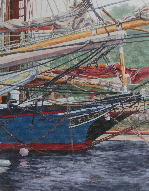 Nautical Decor Ship Painting Schooners Print Beach House Boat Art