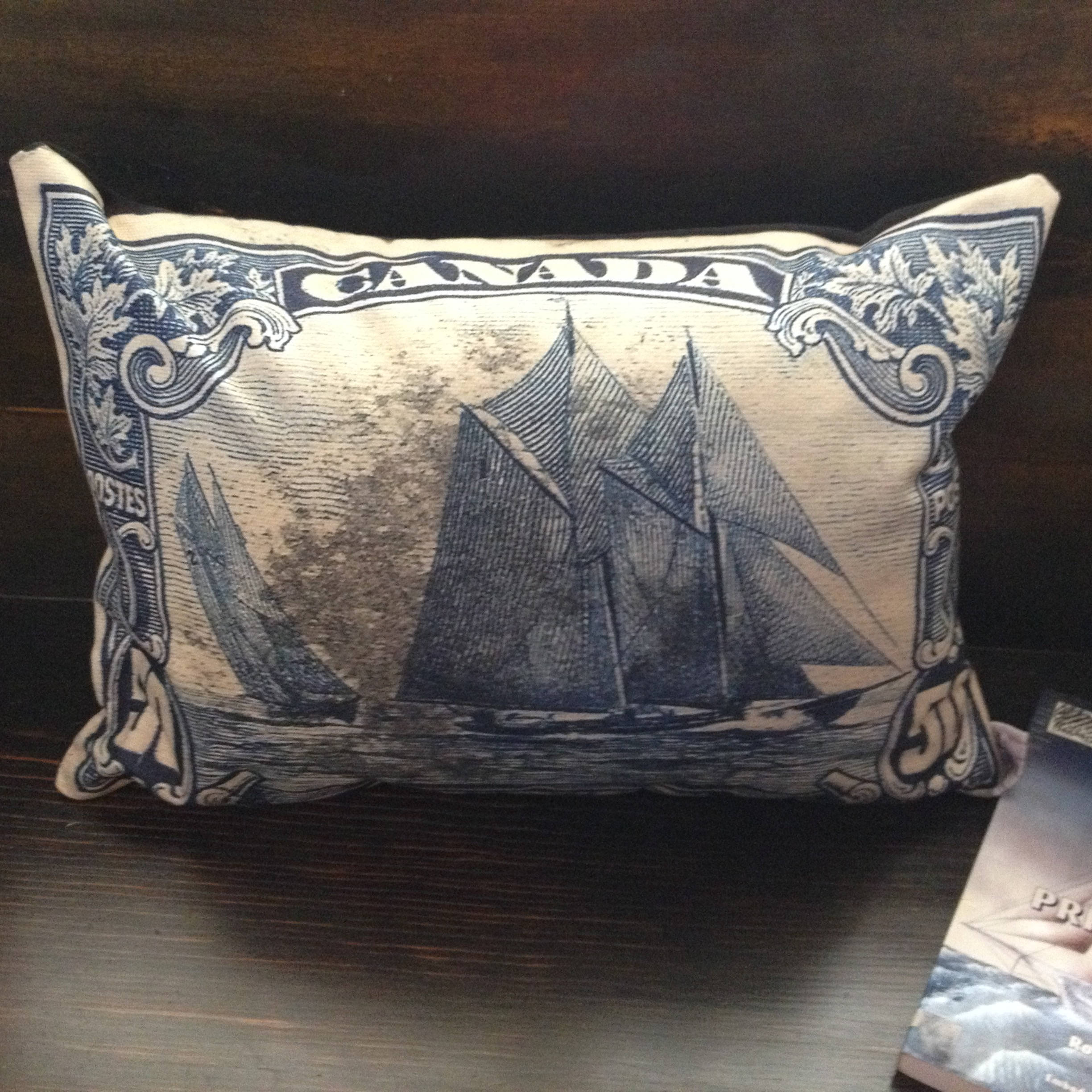 Canadian Inspired Home Decor Canada Pillow Via Etsy: Bluenose Iconic Canadian Sailing Ship 20x14 Canvas Lumbar