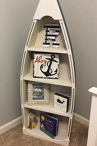 5 Foot Blue Row Bookshelf Bookcase