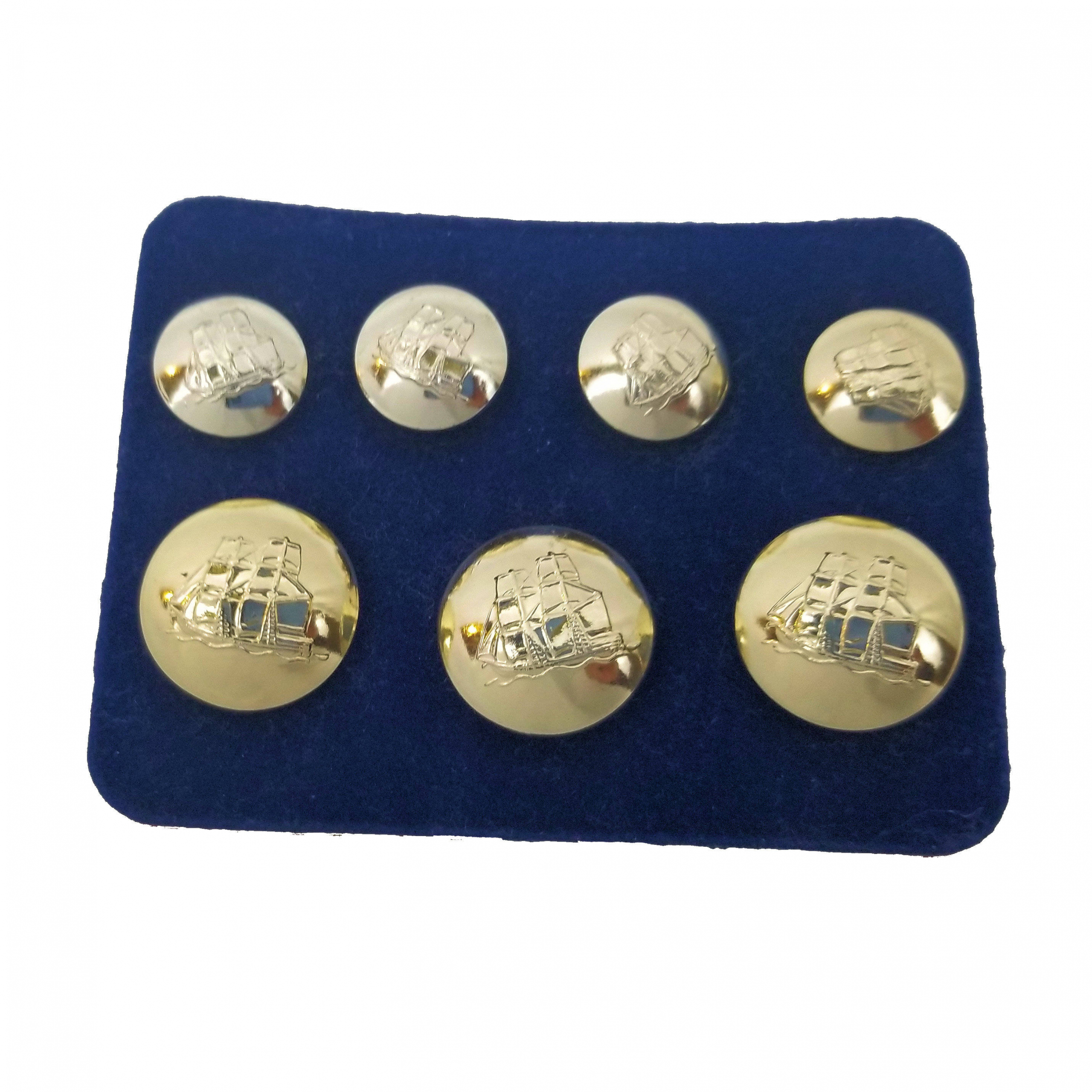 Antique Brass Gold Silver 1 Set of Designer Mens Blazer Metal Buttons