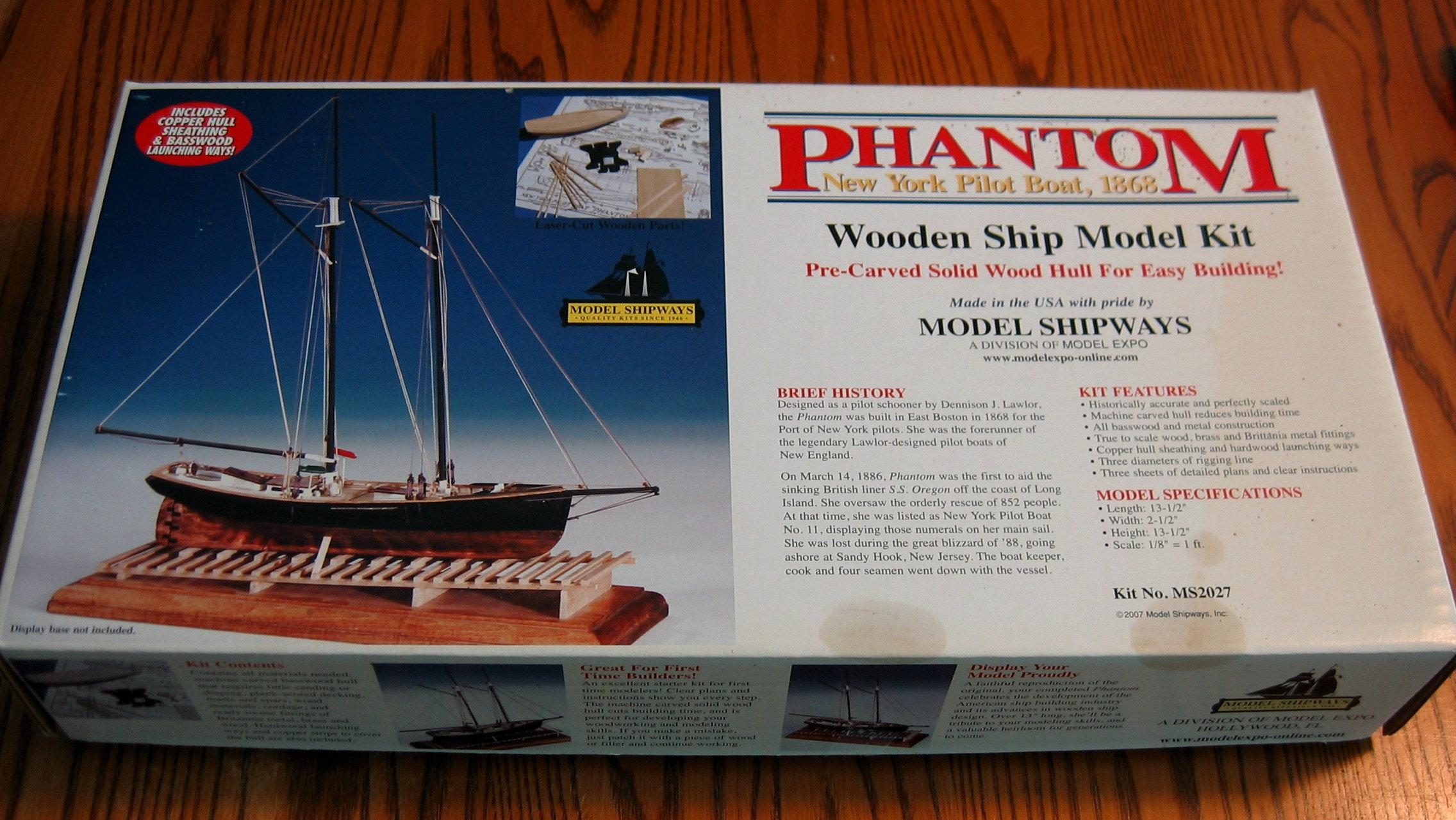 Quality Wooden Ship Model Kit 1868 New York Pilot Schooner Sealed Parts  Model Shipways, USA