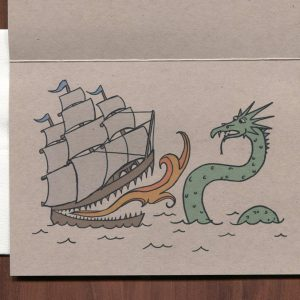 Ship Humorous Greeting Card