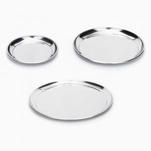 Onyx Small Medium Large Stainless Steel Plates