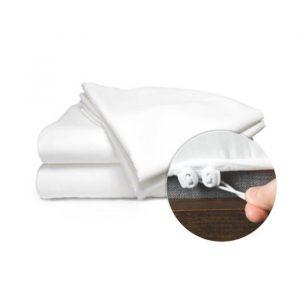Quahog Bay Bedding - CinchFit Economy Home Bedding Line - Split Flex Top King Fitted Sheet Only 300TC White