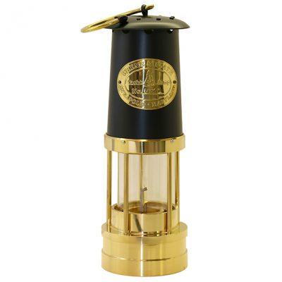 Weems & Plath Brass Yacht Lamp with Black Bonnet